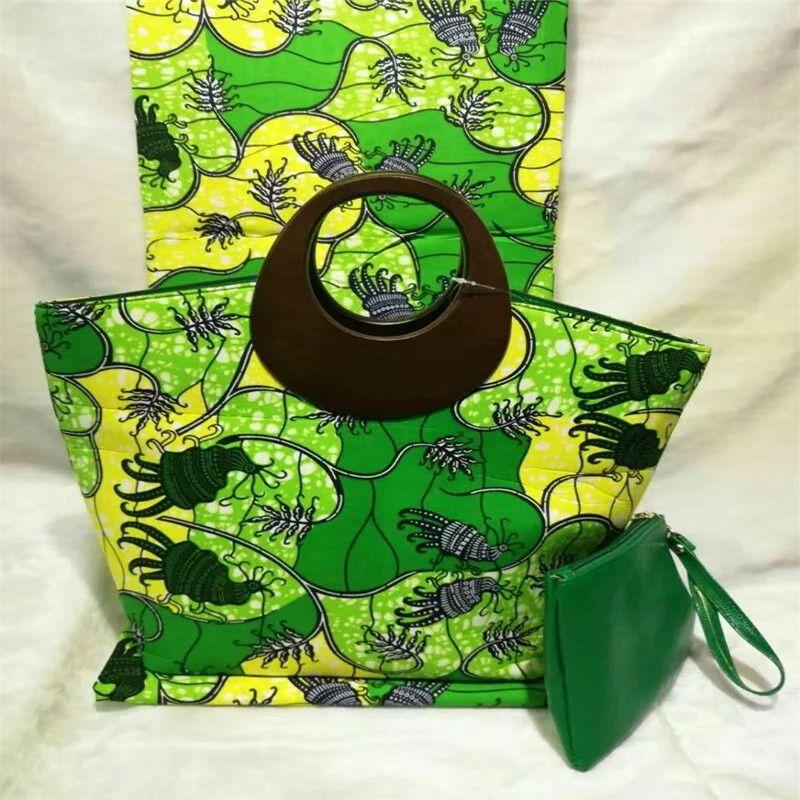 New arrival hollandais wax bag 3 pieces/set,high quality woman handbag 6yards real super wax hollandais dutch wax fabric !SC9153