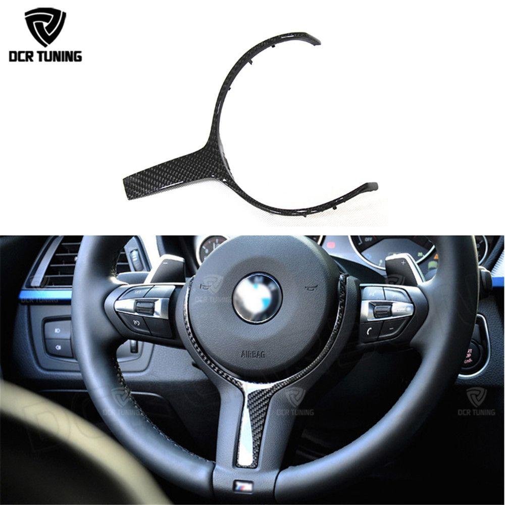 For BMW F20 F22 F21 F30 F32 F33 F36 F06 F12 F13 X5 F15 X6 F16 M-Sport Carbon Fiber Steering Wheel Trim & Carbon Gear Knob Cover