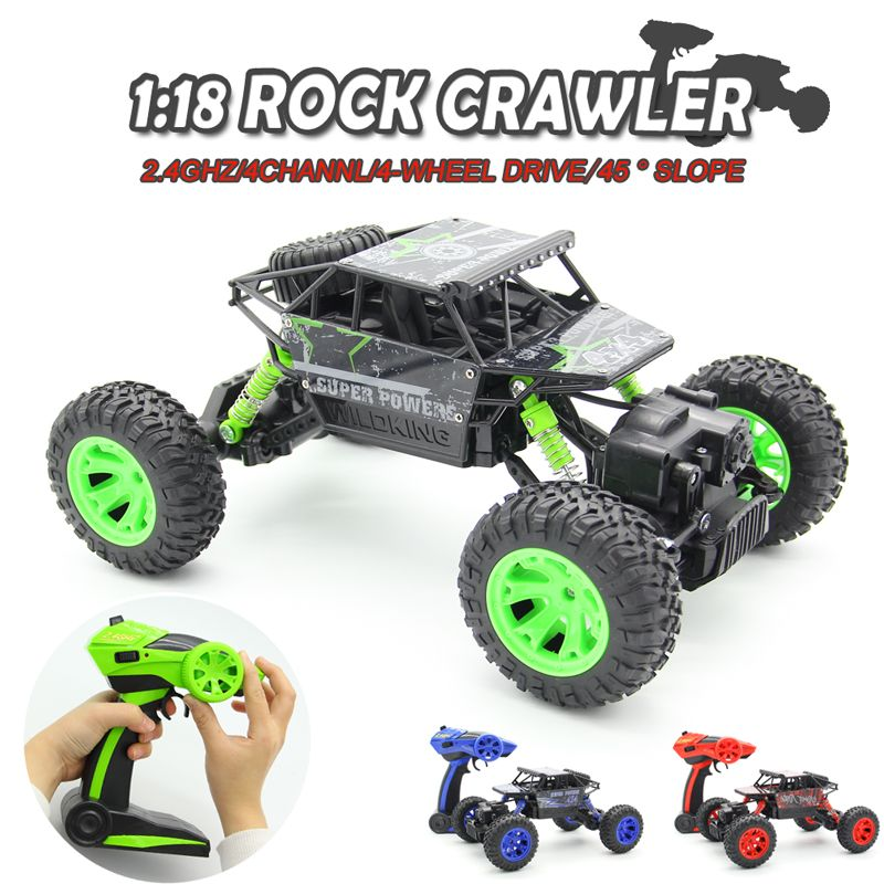 1:18 2.4G 4WD Rock Crawler 4CH RC Car RC 4x4 Rock Crawlers Car Double Motors Drive Bigfoot Car Remote Control Car Model Off-Road