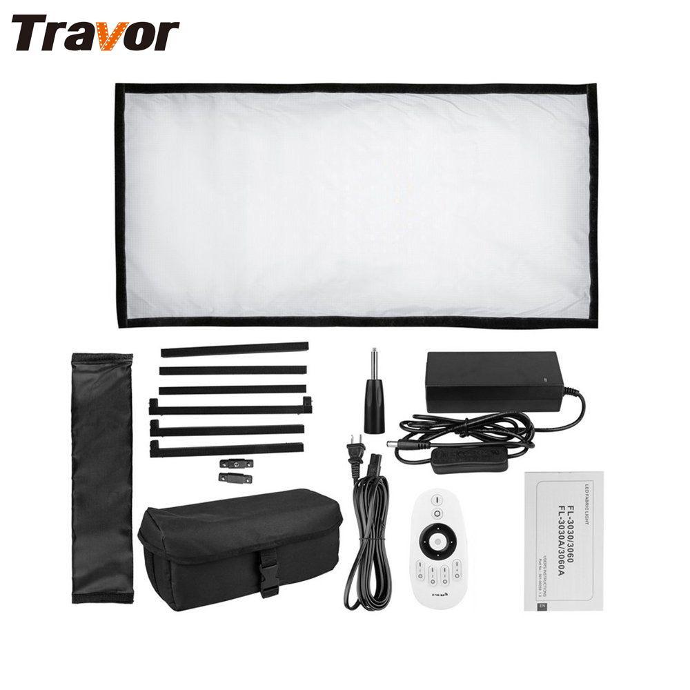 Travor Flexible led video licht Bi-Farbe FL-3060A größe 30*60 CM CRI 95 3200 K 5500 K mit 2,4G fernbedienung für video schießen