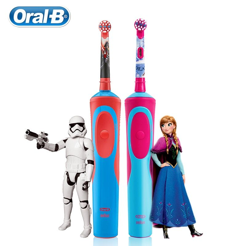 Oral-B Children Electric Toothbrush For 3+ Years Old Deep Clean Gum Care Rechargeable Replecement Toothbrush Heads