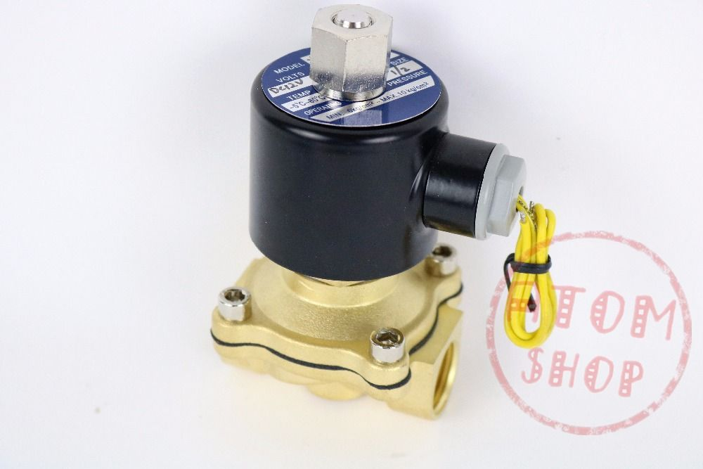 1/2 Electric Solenoid Valve Water Air N/C Gas Water Air 2W160-15 DC12V 24V AC110V 220V