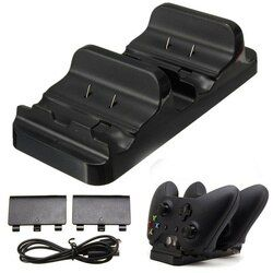 Dual Charging Dock Controller Charger +2x Rechargeable Batteries for XBOX ONE Rechargeable Battery Best Dual Charging Dock