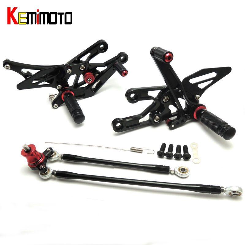 KEMiMOTO CNC Adjustable Rearsets Foot Rest Foot Pegs For Honda CBR1000RR 2004 2005 2006 2007 CBR600RR 2003 2004 2005 2006 3color