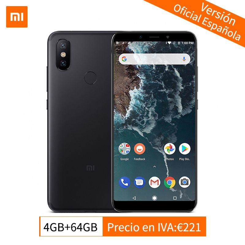 Global Version Xiaomi Mi A2 4GB 64GB Mobile Phone Snapdragon 660 Octa Core 20.0MP Dual Camera 5.99