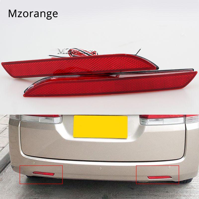2X5 W voiture LED queue pare-chocs arrière réflecteur lumières pour Honda Fit STEPWGN RG 2010-2014 rouge feu stop lampe d'avertissement voiture style