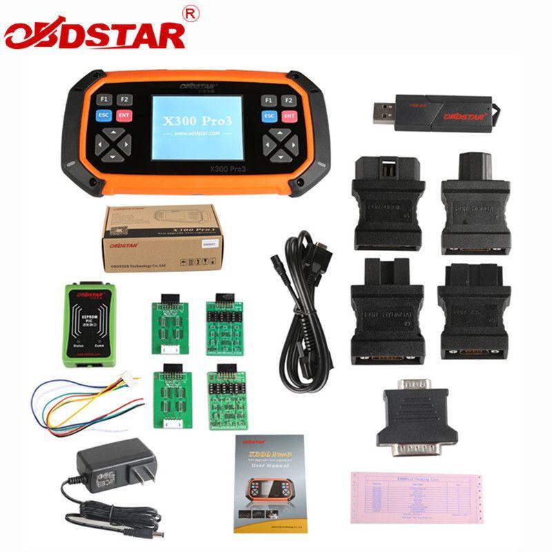 OBDSTAR X300 PRO3 Schlüssel Master mit Wegfahrsperre + Kilometerzähler Einstellung + EEPROM/PIC + OBDII für Toyota G & H Chip Alle Schlüssel Verloren