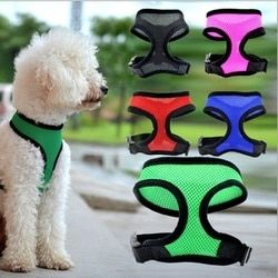 Hoomall 1 unid rojo moda pecho malla perro arnés Nylon al aire libre ajustable arnés para perro grande acolchado suave Leads Pet accesorios