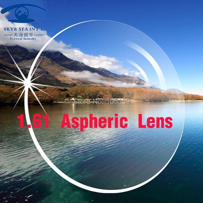 SKY & MEER OPTICA Angepasst Linsen für Augen 1,61 Index Asphärische Objektiv CR39 Rezept Objektiv Optische Brillen Linsen