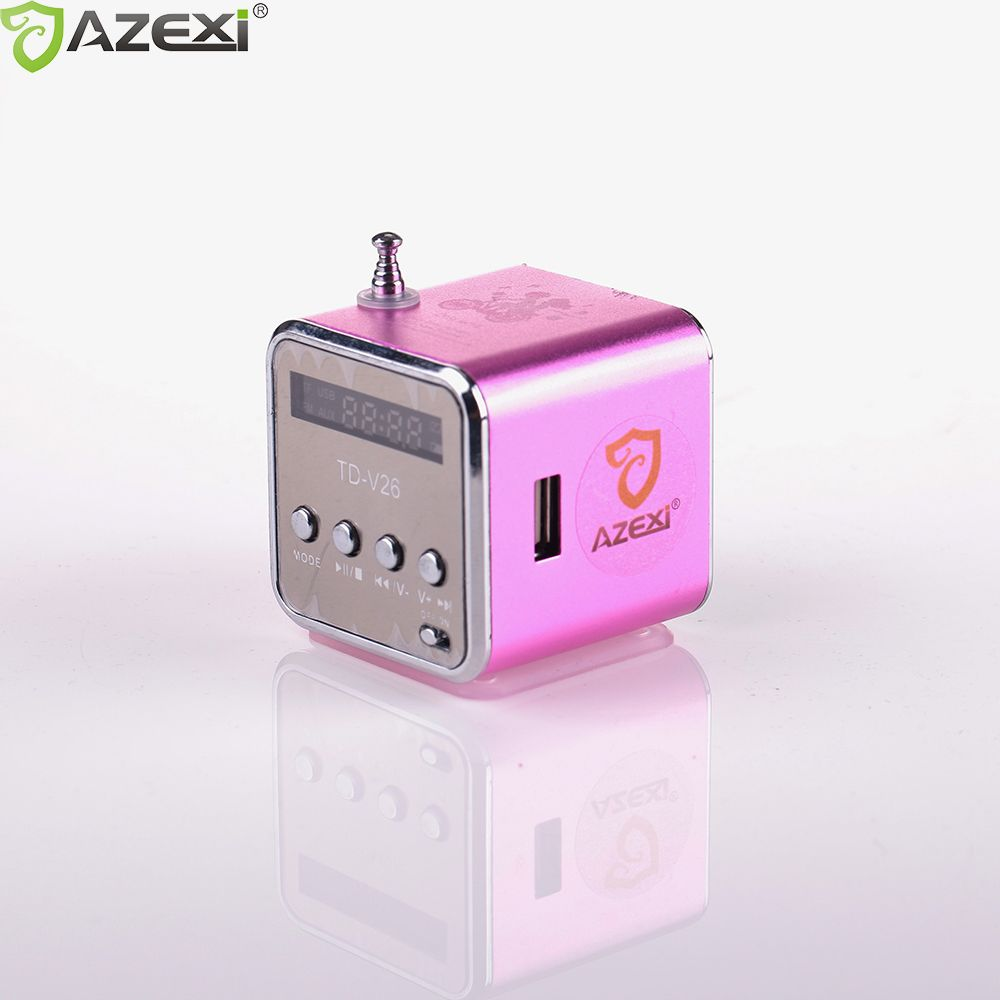 TD-V26 digital radio Mini Speaker portable Radio FM Receiver rechargeable battery support SD/TF card music play