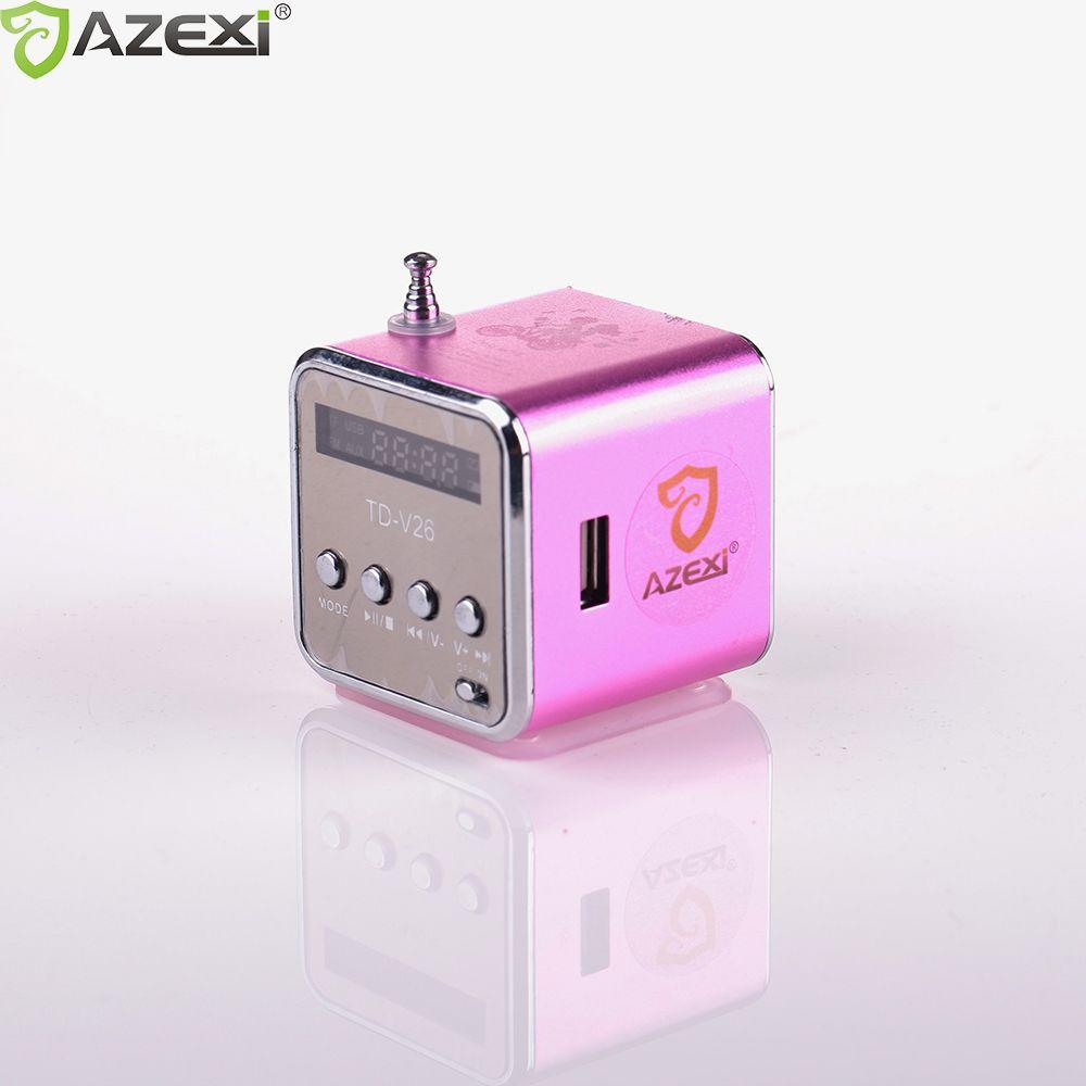 TD-V26 numérique radio Mini Haut-Parleur portable Radio FM Récepteur rechargeable batterie soutien SD/TFcard musique jouer Livraison gratuite