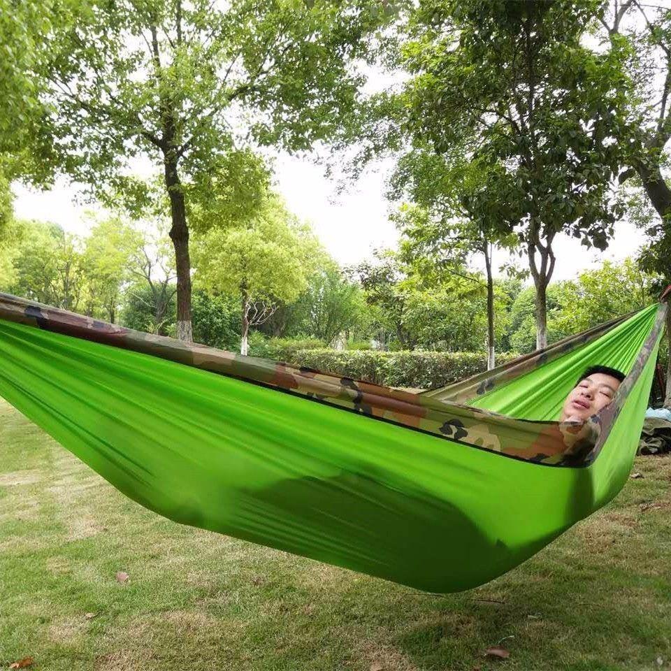 Nouveau Camouflage Parachute Hamac extérieur tente Hamac meubles de jardin balançoire Hamaca Hangmat Camping hamacs