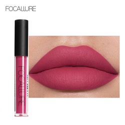 FOCALLURE Matte Lipgloss Sexy Liquid Lip Gloss Matte Long Lasting Waterproof Cosmetic Beauty Keep 24 Hours Makeup lipgloss
