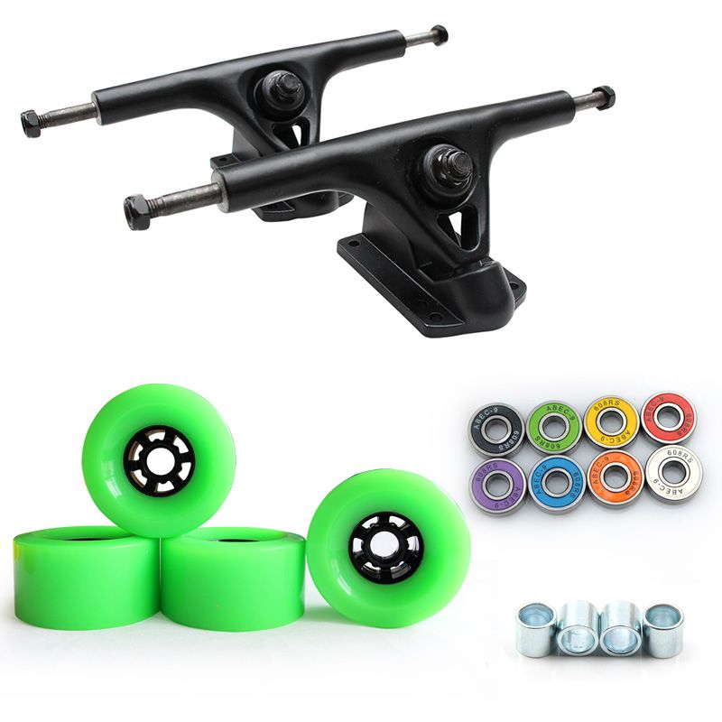 Neue 8 zoll Longboard Lkw 97*52mm 78A Skateboard Räder Elektrische Skateboard Großen Rad Straße Rad ABEC-9 Lager 270mm Brücke