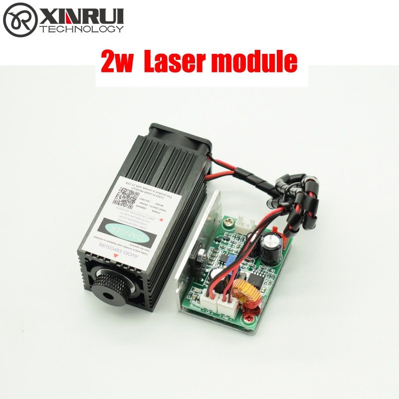 2w high power 450NM focusing blue laser module laser engraving and cutting TTL module 2000mw laser tube+goggles