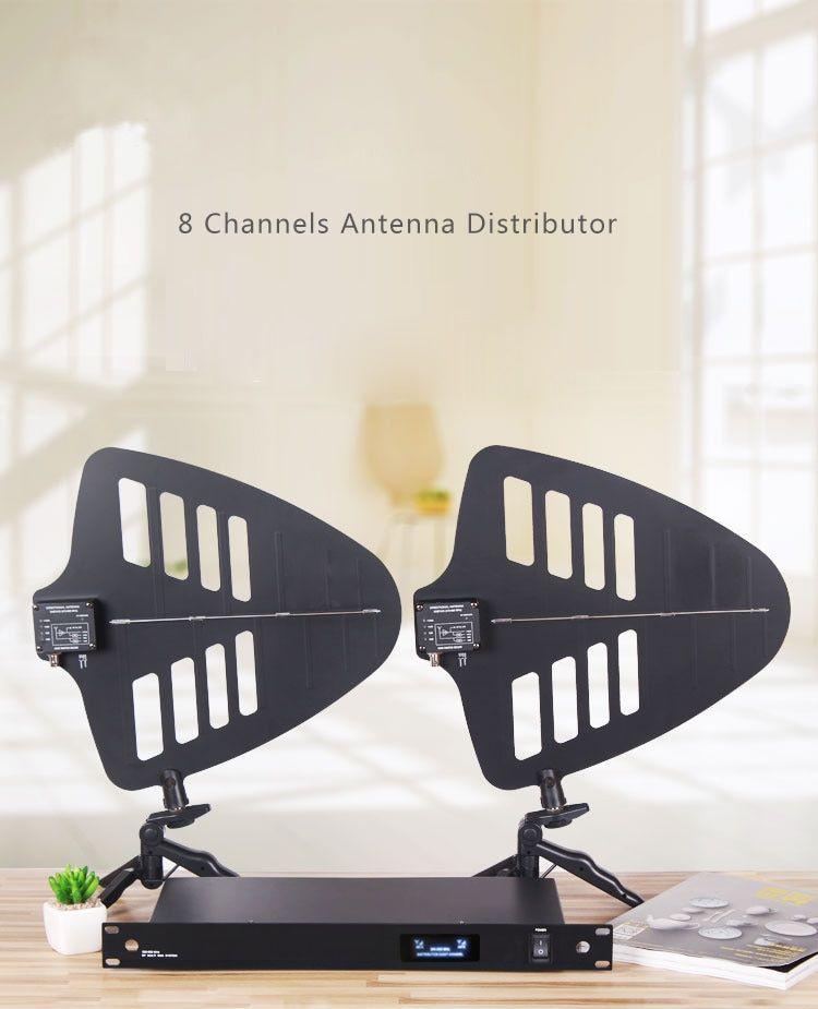 Newest product / For 8 sets wireless microphone signal antenna amplifier DIRECTIONAL ANTENNA for stage enhanced 400 meters
