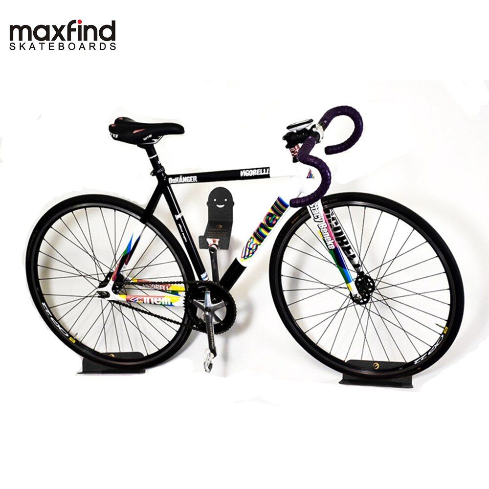Maxfind Wall Mount Bicycle Holder Mountain Bike Rack Stand Steel Support Bike Cycling Pedal Tire Storage Hanger Rack