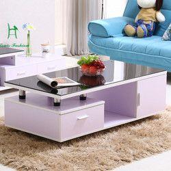 Forfait spécial table basse simple moderne trempé table à thé en verre rectangulaire table de petite taille creative table basse