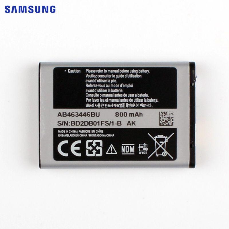SAMSUNG Original Replacement Battery AB463446BU For Samsung S139 M628 X520 F258 E878 E1200M E1228 Authentic Phone Battery 800mAh