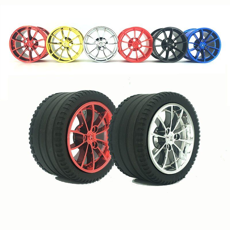 Building Block Accessories Technology Series Chrome Rims compatible 42056 3368 moc Race Car Model Plating lepin 20001 Wheel Hub
