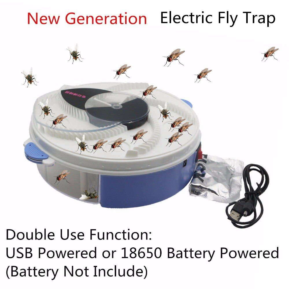 USB type <font><b>Electric</b></font> Fly Trap with bait Pest Control <font><b>Electric</b></font> anti Fly Killer Trap Pest Catcher Bug Insect Repellents vliegenvan