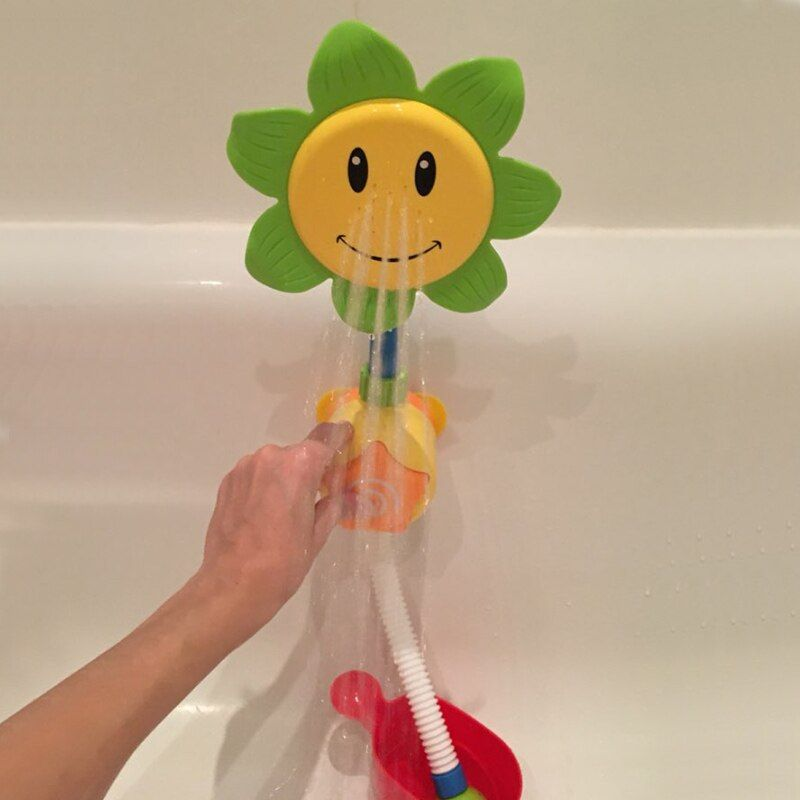 Baby Bath Toys Children Sunflower Spray Water Shower Faucet Kids Bath Toy with Box Bathroom Toys Random Color