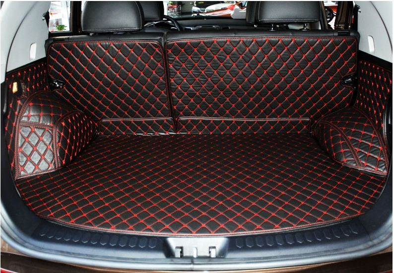 Good carpets! Special trunk mats for KIA Sportage 2015-2010 waterproof boot mats cargo liner mat for Sportage 2014,Free shipping