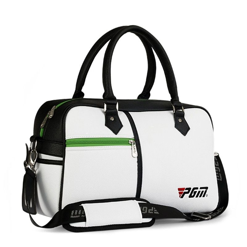 Golf Bags PGM PU Leather Sports Bag Men Women Clothing Handbag Box-shaped Large Capacity Double-deck Clothes Bag