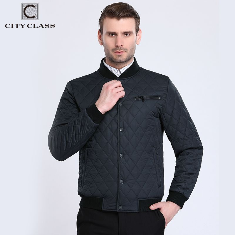 City Class 2017 Bomber Jacket Men Fashion Quilted Jackets Flight Pilot Brand Coats Motorcycle Male Casacos Brand Clothing 17904