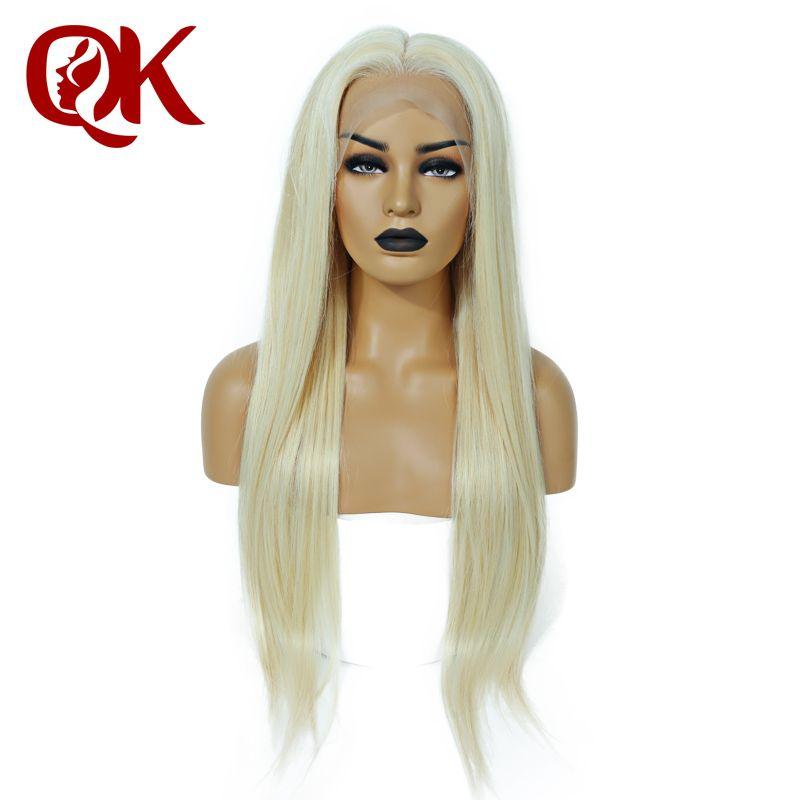 QueenKing haar Volle Spitze Perücke 150% Dichte Blonde 613 Seidige Gerade Preplucked Haaransatz 100% Brasilianische Menschliches Remy Haar