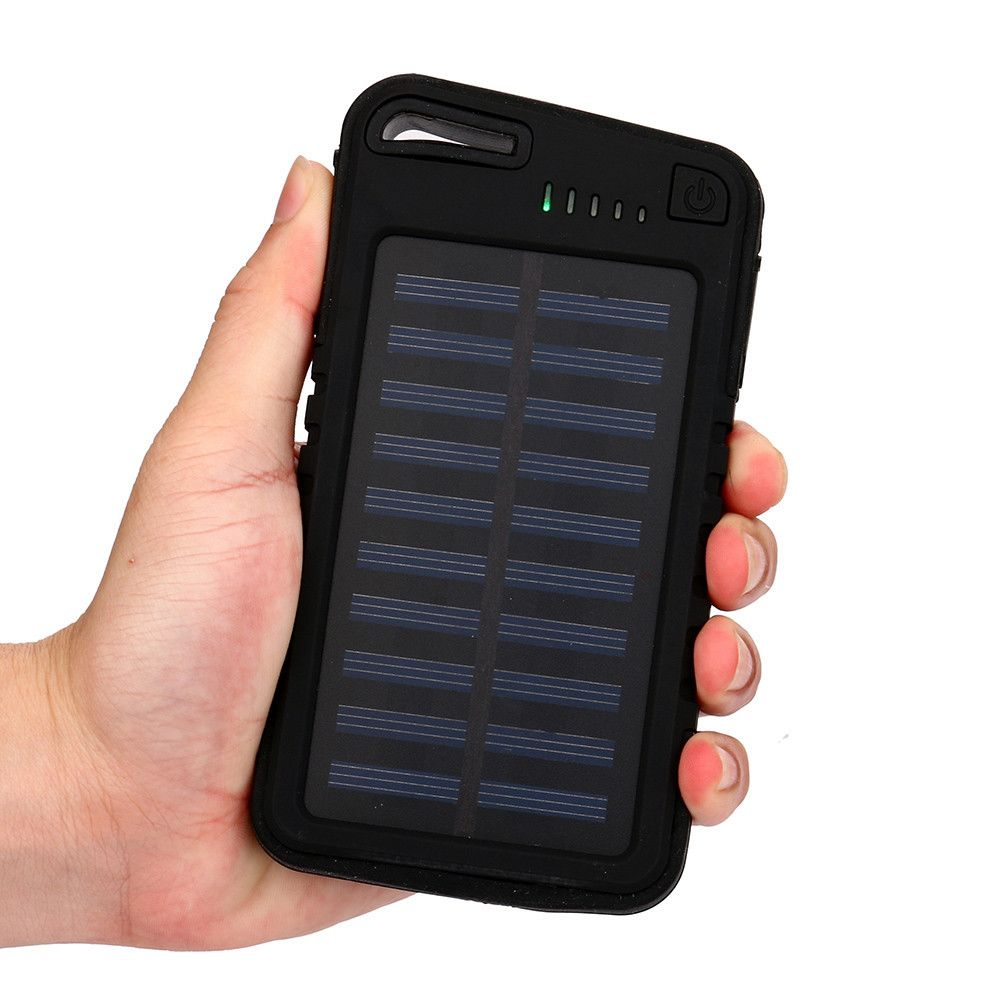 power bank 30000mah Dual-USB Waterproof Solar PowerBank For Cell Phone for IphoneX 6S and 6S Plus for xiaomi Samsung 18650