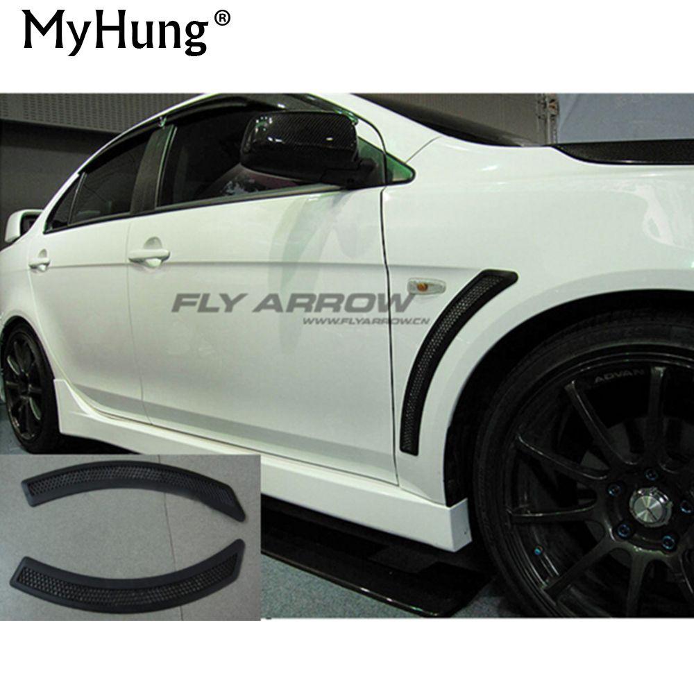 Autocollant décoratif pour évent de voiture CJ ES Evo garde pour Mitsubishi Lancer EX V3 V5 V6 2009 2010 2011 2012 2013 2014 2 pièces