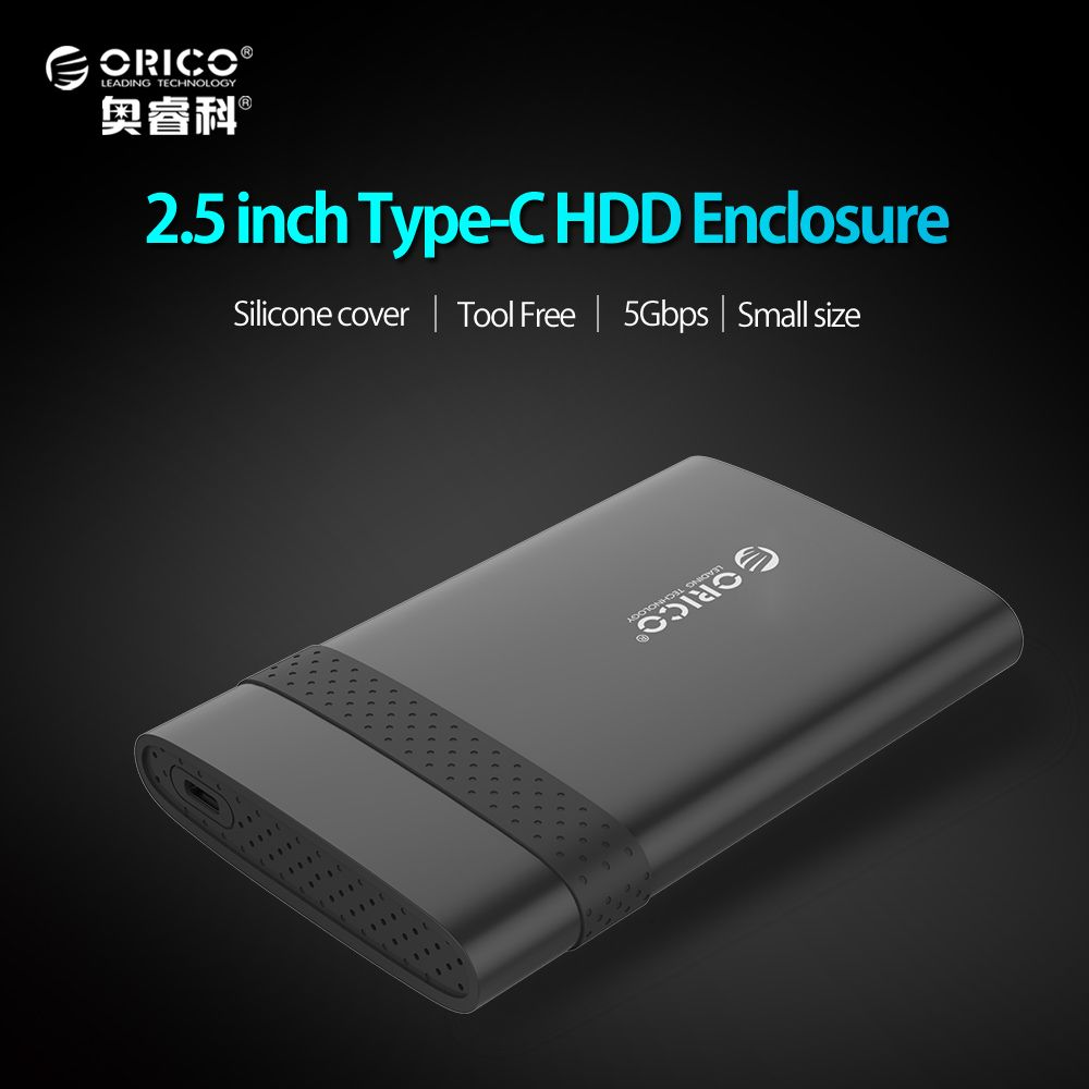 ORICO 2.5 inch USB 3.1 Gen 1 Type-C To SATA 3.0 Super Speed HDD Case Free Tools HDD Enclosure-( 2538C3 )