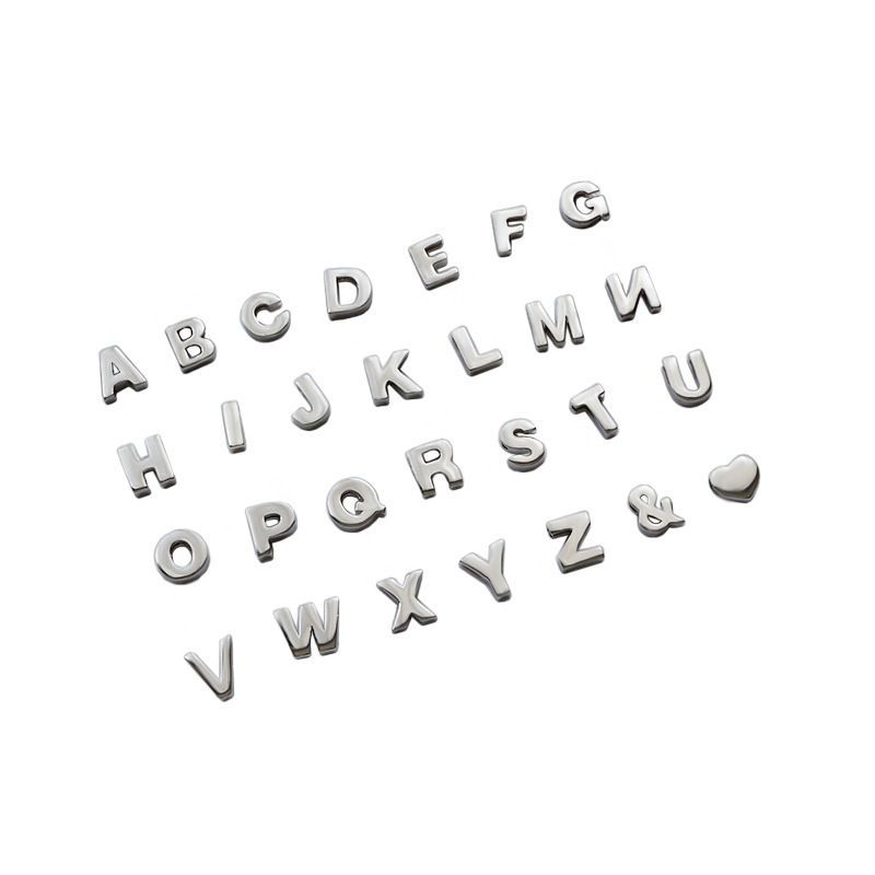 Special gift chic 925 sterling silver letters pendants bijoux femme, name personalized colgantes women sterling silver jewelry