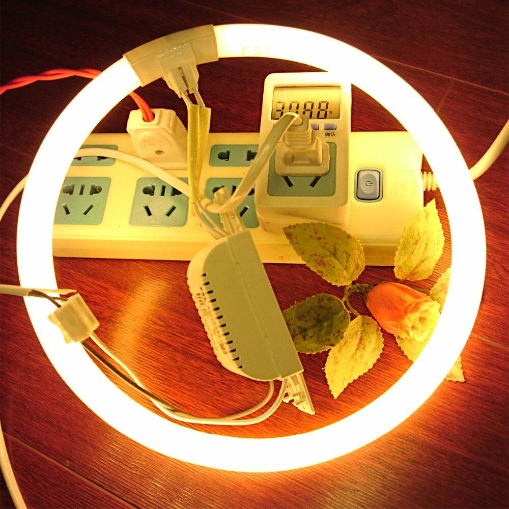 2-pack T5/T6 CFL Rare earth phosphor Compact Fluorescent Circular Lamp Circline Energy-saving Replace Light Tube 2700K 6500K