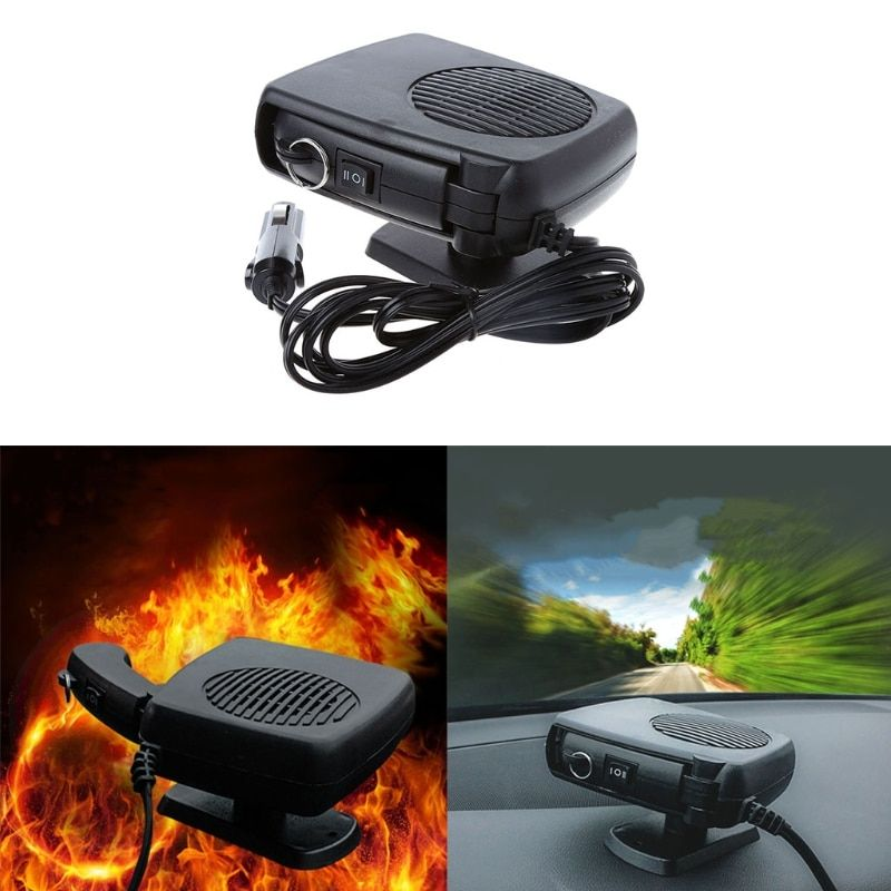 Portable 2 in 1 Car Heater Heating Cooling Fan Defroster Demister DC24V 150W for Vehicle Temperature Control Auto Heating Fans