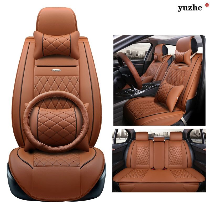 Yuzhe leather car seat cover For Ford mondeo Focus 2 3 kuga Fiesta Edge Explorer fiesta fusion car accessories styling cushion