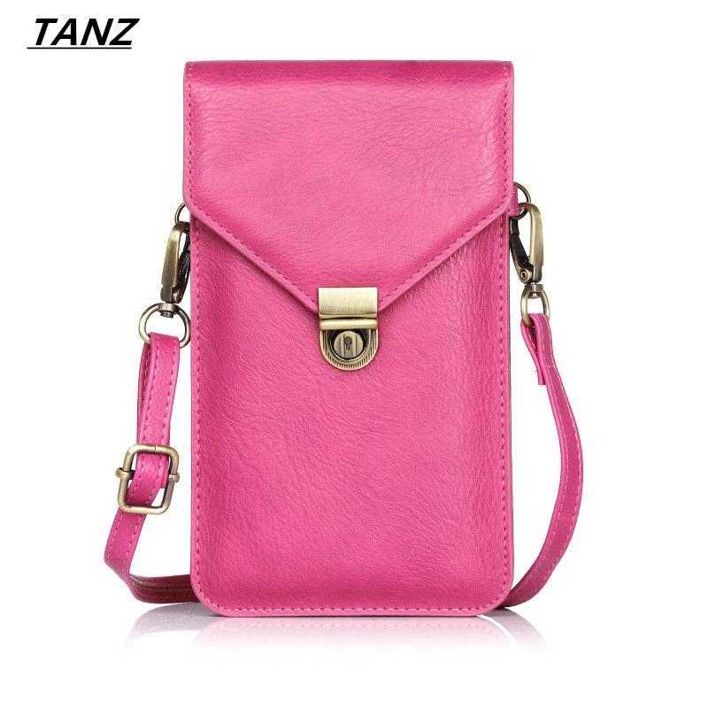 TANZ multifonction universel en cuir téléphone portable sac épaule poche portefeuille pochette étui cou sangle pour iPhone 7For Samsung S8 MOTO