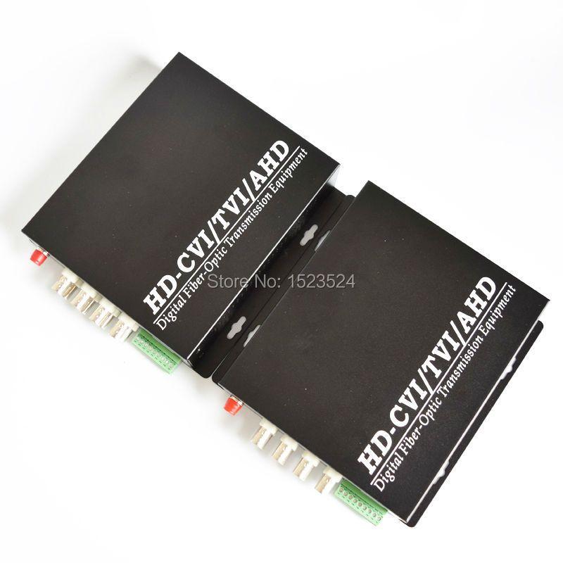 1080 P HD AHD CVI TVI Fiber optical video converter, 8 Kanal Video Optische Conveter mit Reverse RS485 Daten Singlemode 20 KM