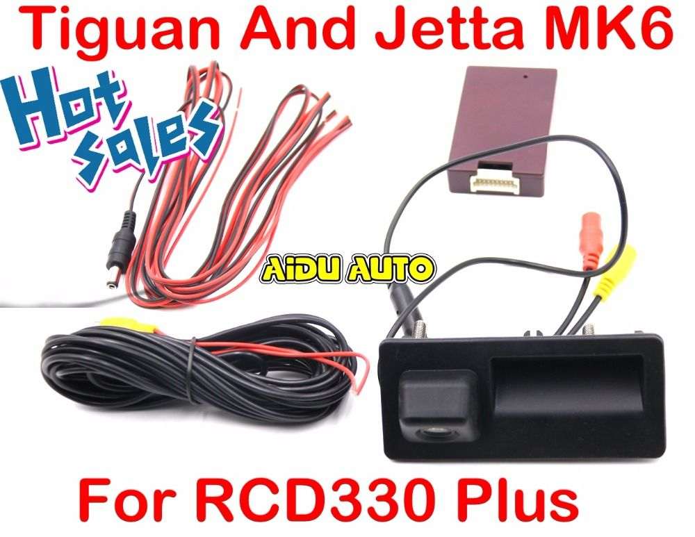 RCD330 Plus MIB Radio Carplay Rcd330+ AV Trunk Handle Rear Camera View Reversing For VW Tiguan Jetta MK6