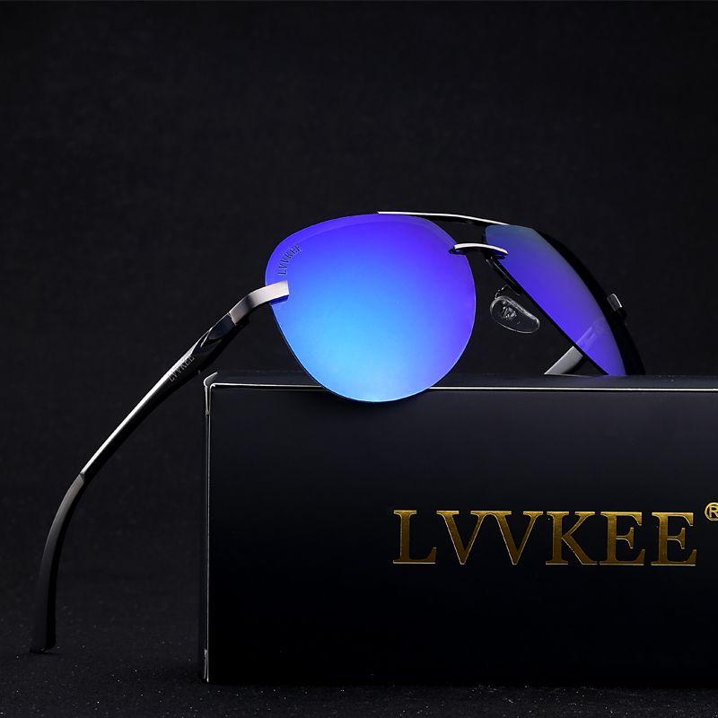 2017 LVVKEE top brand design hommes Lunettes De Soleil Polarisées lunettes de soleil UV400 rayons De Luxe chaude marques emballage d'origine glasse