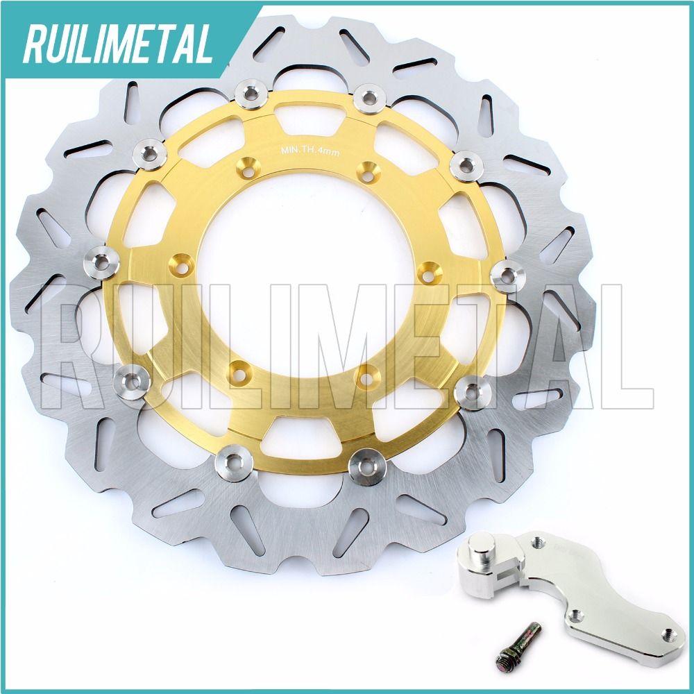 320mm oversize Front Brake Disc Rotor Bracket Adaptor for SUZUKI RM 125 250 DRZ 400 S E SV SM (Italy) 125 2005 2006 05 06