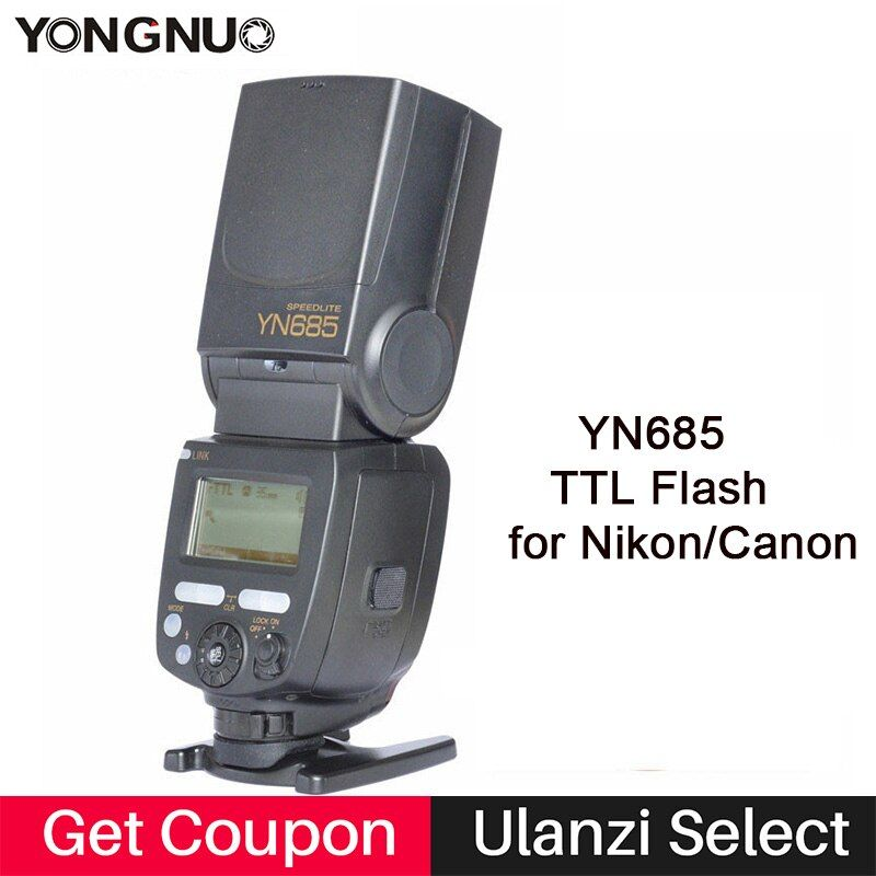 YONGNUO YN685C YN685N <font><b>Flash</b></font> Speedlite GN60 Wireless System TTL HSS 1/8000S Radio Slave YN685 for Canon Nikon YN622N YN622C-TX