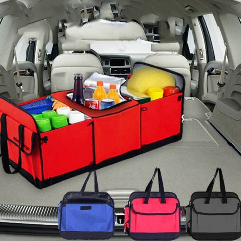 Складной многокамерными Ткань Бегемот тележки автомобиля Ван внедорожник корзина для хранения Магистральные организатор и охладитель наб...