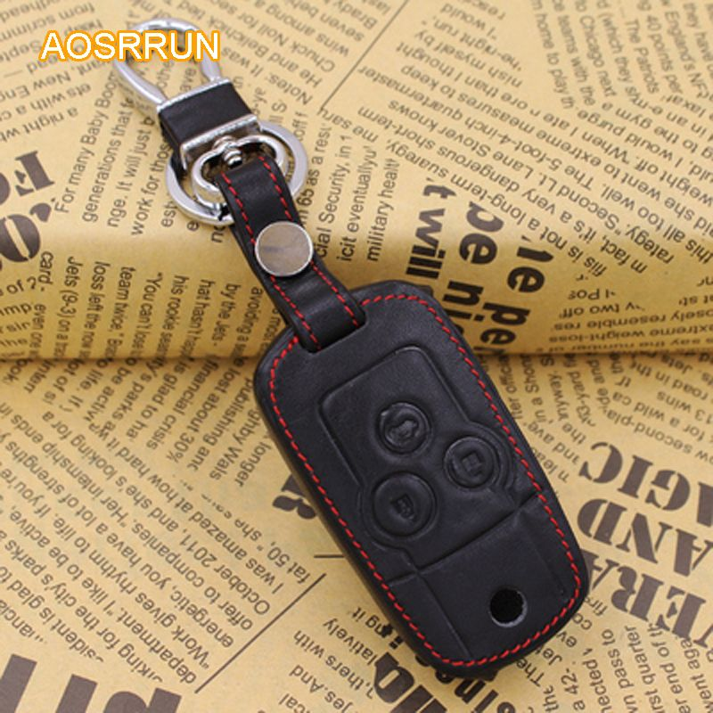 AOSRRUN Car accessories PU leather Key case chain Key Rings Cover For Honda Accord Acura TSX 8gen 9gen 2009-2014