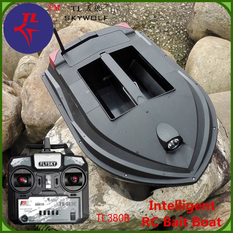 Fast RC Electric Fishing Bait Boat TL-380B 2.4G 3KG Lower fishnet Feeding hook Fishing Remote control double Boat Lure Boat