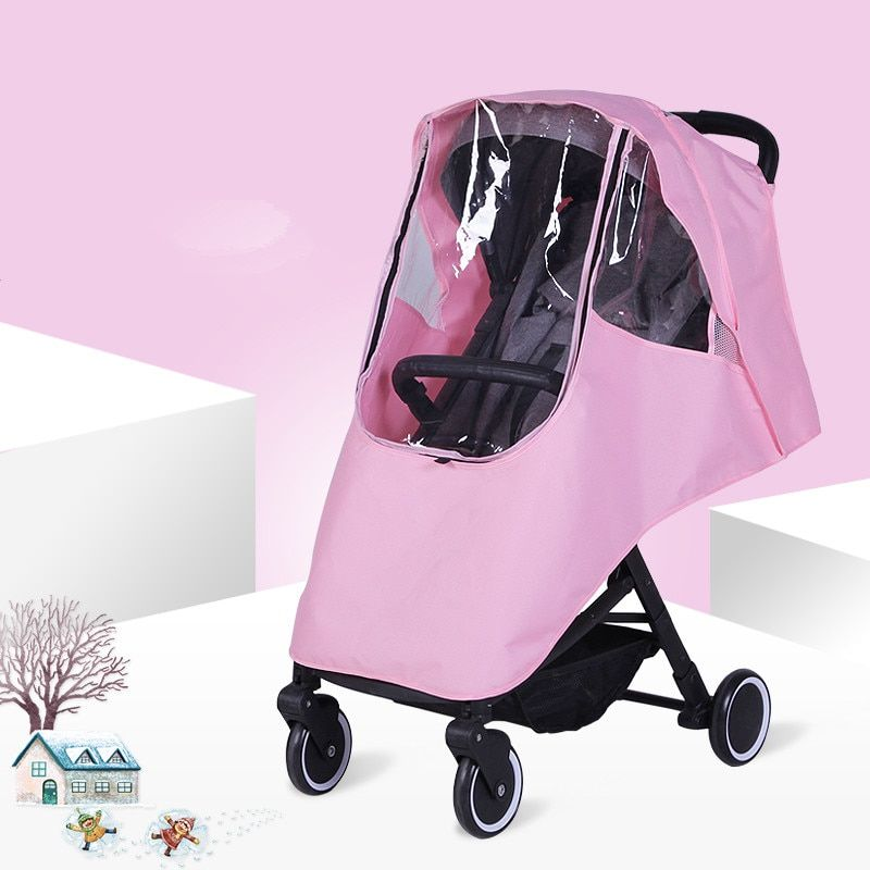 Baby Stroller Accessories Universal Waterproof Rain Cover Wind Dust Shield For Strollers Pushchairs stroller Buggy Cover