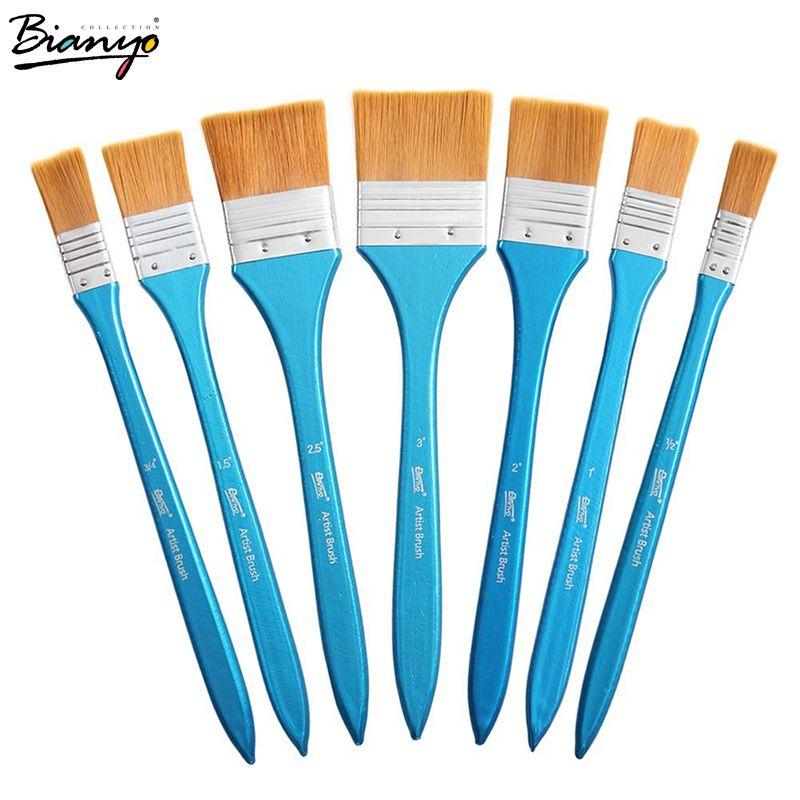 Bianyo 7 pièces bricolage Graffiti Brosse Ensemble De Pinceaux De Peinture Acrylique Pour Artiste Huile Brosse À Récurer École Dessin Peinture Papeterie Fournitures