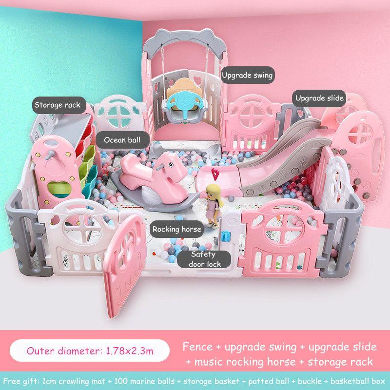 Baby Kinder Laufstall Indoor Spielplätze Familie Amusement Park Baby Zaun Spiel-Center Kind Sicherheit Zaun Barriere De Securite Enfant