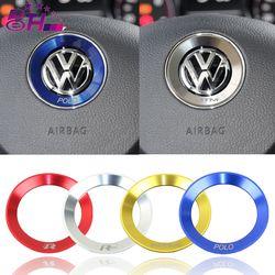 Voiture volant décoration cercle anneau autocollant couvre style pour Volkswagen VW R ligne De Golf 5 6 Polo Passat Jetta GTI Tiguan